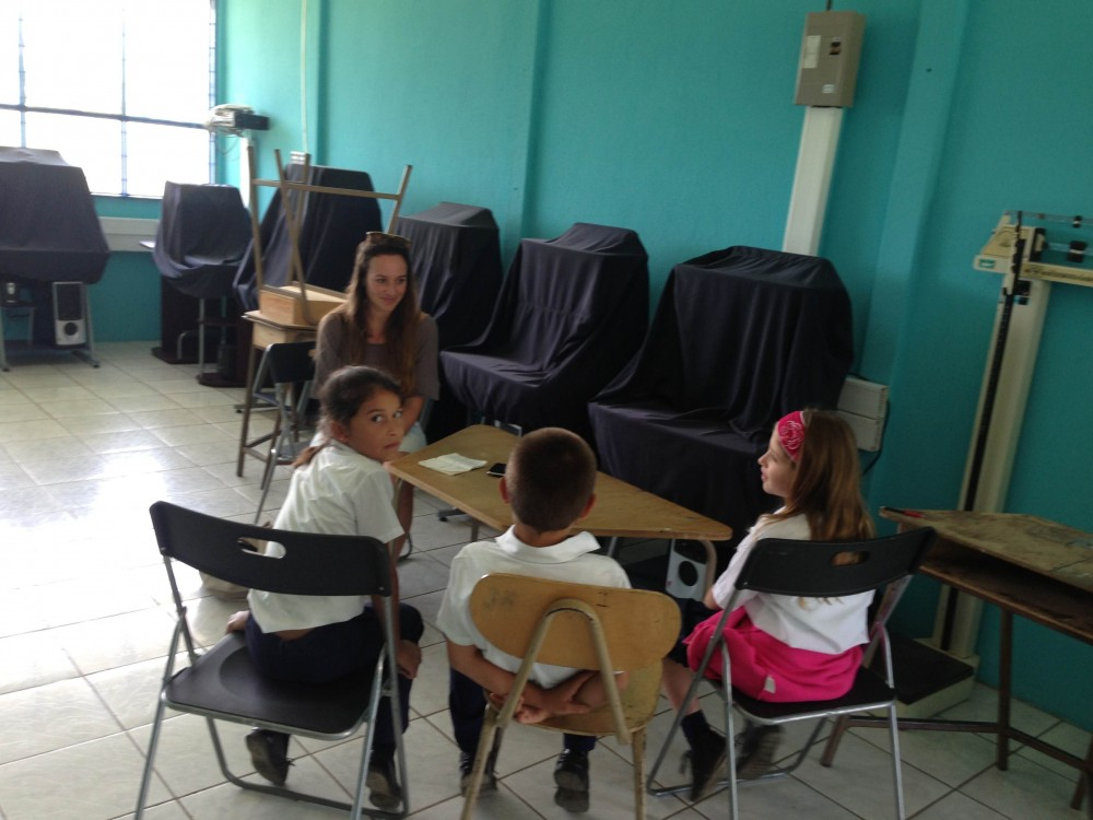 Interviewing children in the Coto Brus Region, Costa Rica, 2013